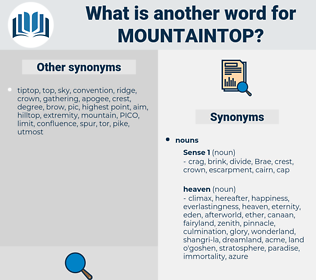 mountaintop, synonym mountaintop, another word for mountaintop, words like mountaintop, thesaurus mountaintop