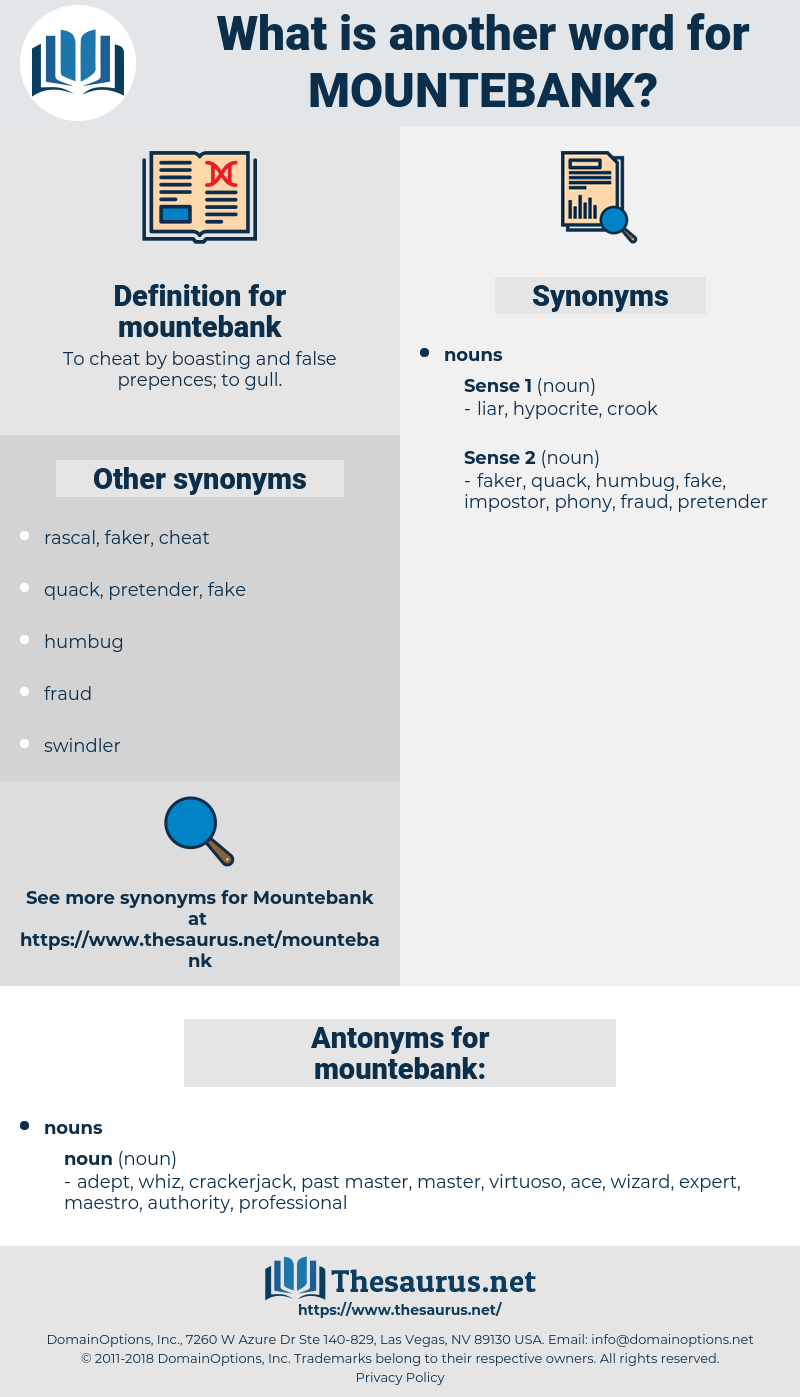mountebank, synonym mountebank, another word for mountebank, words like mountebank, thesaurus mountebank