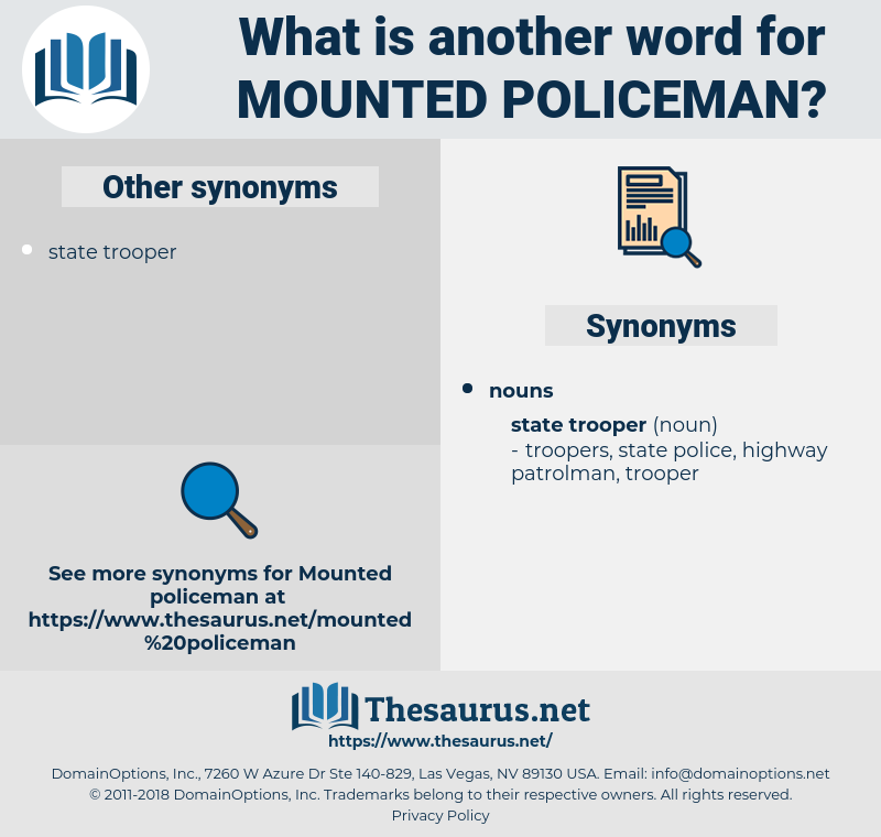 mounted policeman, synonym mounted policeman, another word for mounted policeman, words like mounted policeman, thesaurus mounted policeman