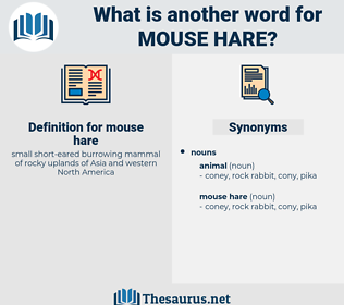 mouse hare, synonym mouse hare, another word for mouse hare, words like mouse hare, thesaurus mouse hare
