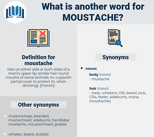 moustache, synonym moustache, another word for moustache, words like moustache, thesaurus moustache