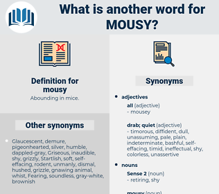 mousy, synonym mousy, another word for mousy, words like mousy, thesaurus mousy