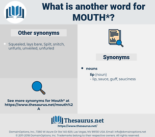 mouth, synonym mouth, another word for mouth, words like mouth, thesaurus mouth