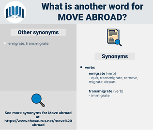 move abroad, synonym move abroad, another word for move abroad, words like move abroad, thesaurus move abroad