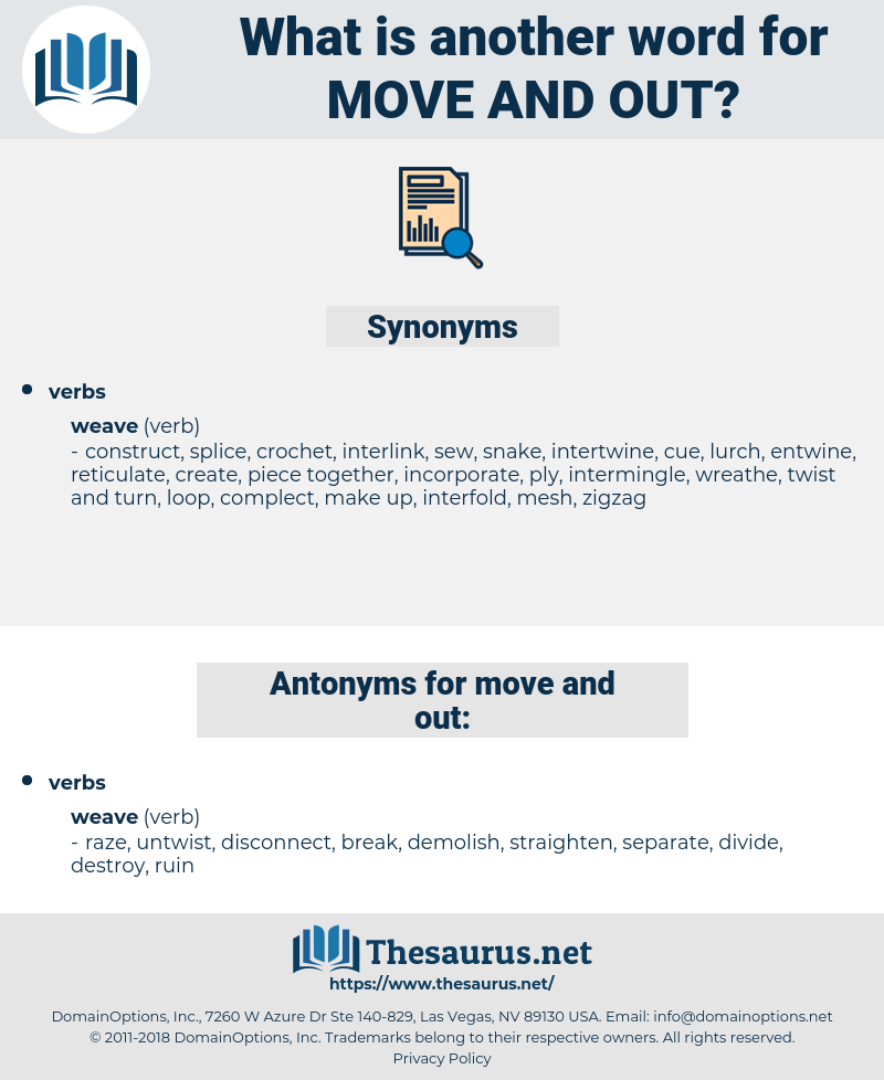 move and out, synonym move and out, another word for move and out, words like move and out, thesaurus move and out