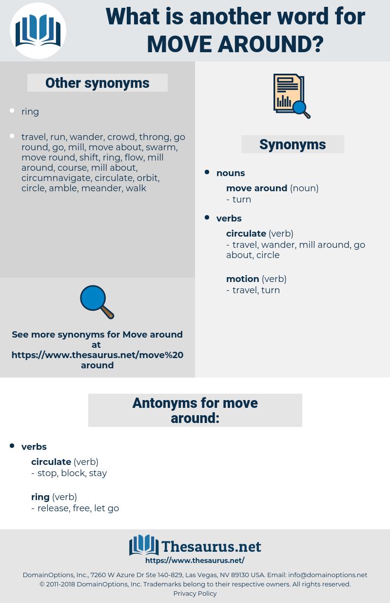 move around, synonym move around, another word for move around, words like move around, thesaurus move around