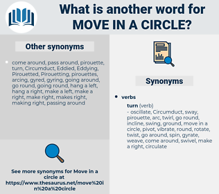 move in a circle, synonym move in a circle, another word for move in a circle, words like move in a circle, thesaurus move in a circle