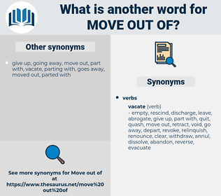 move out of, synonym move out of, another word for move out of, words like move out of, thesaurus move out of