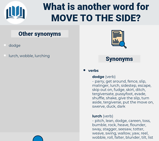 move to the side, synonym move to the side, another word for move to the side, words like move to the side, thesaurus move to the side