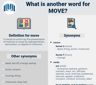 move, synonym move, another word for move, words like move, thesaurus move