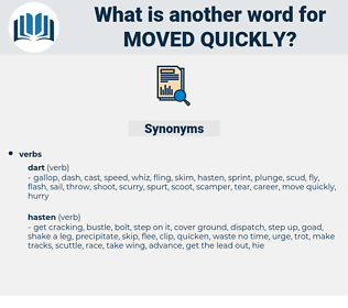 moved quickly, synonym moved quickly, another word for moved quickly, words like moved quickly, thesaurus moved quickly