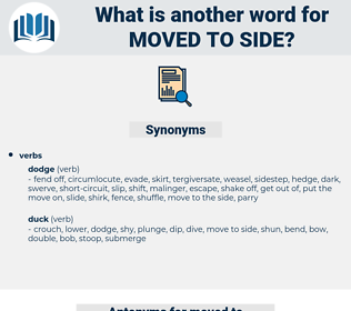 moved to side, synonym moved to side, another word for moved to side, words like moved to side, thesaurus moved to side