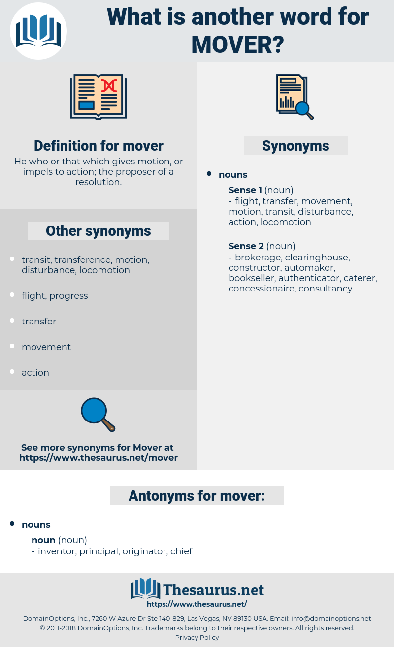 mover, synonym mover, another word for mover, words like mover, thesaurus mover