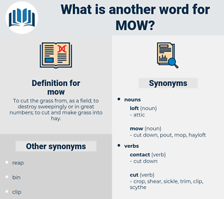 mow, synonym mow, another word for mow, words like mow, thesaurus mow