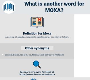 Moxa, synonym Moxa, another word for Moxa, words like Moxa, thesaurus Moxa