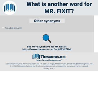 Mr. Fixit, synonym Mr. Fixit, another word for Mr. Fixit, words like Mr. Fixit, thesaurus Mr. Fixit