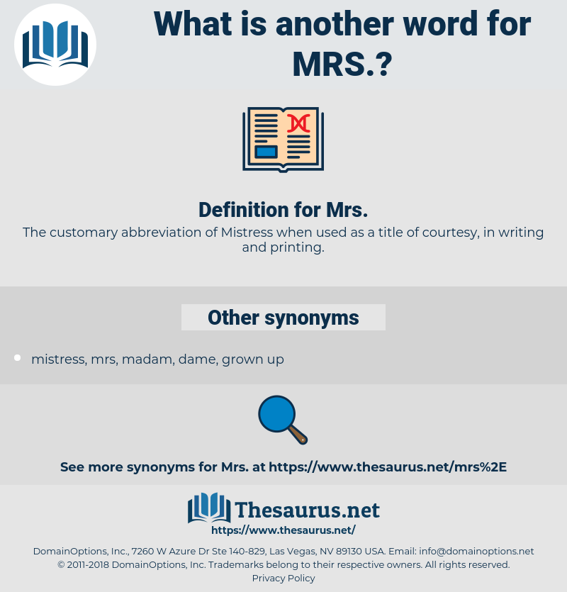 mrs, synonym mrs, another word for mrs, words like mrs, thesaurus mrs