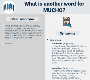 mucho, synonym mucho, another word for mucho, words like mucho, thesaurus mucho