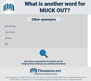 muck out, synonym muck out, another word for muck out, words like muck out, thesaurus muck out