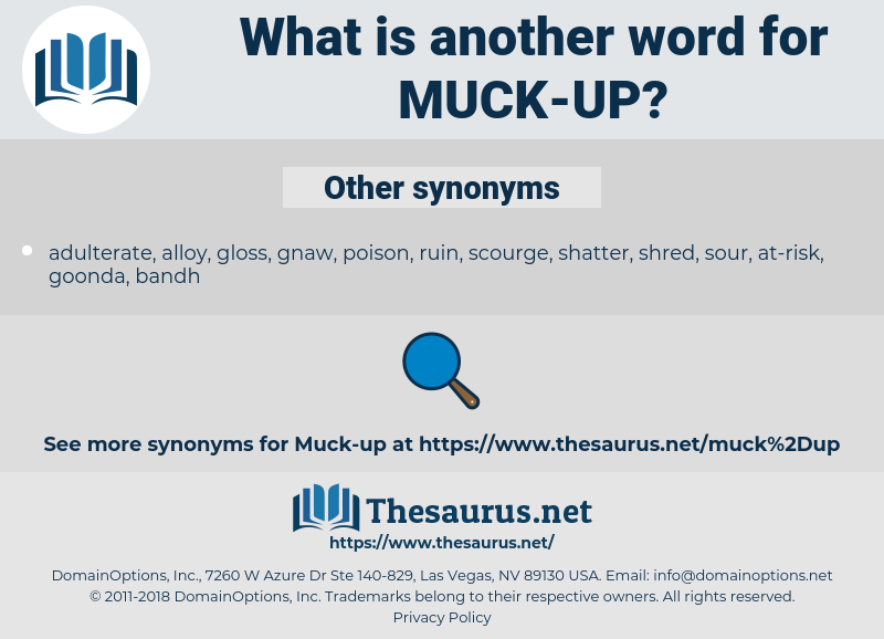 muck up, synonym muck up, another word for muck up, words like muck up, thesaurus muck up