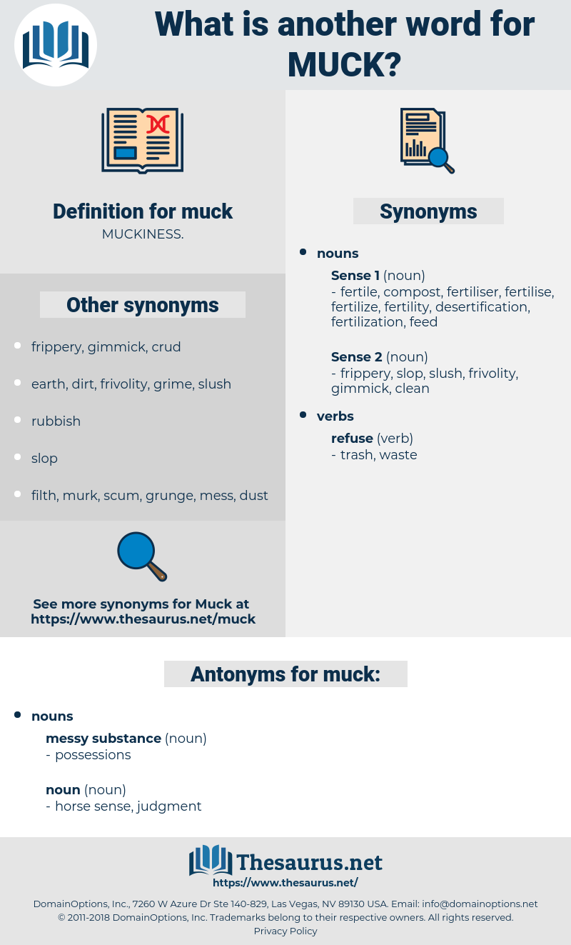 muck, synonym muck, another word for muck, words like muck, thesaurus muck