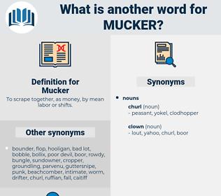 Mucker, synonym Mucker, another word for Mucker, words like Mucker, thesaurus Mucker