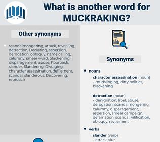 muckraking, synonym muckraking, another word for muckraking, words like muckraking, thesaurus muckraking