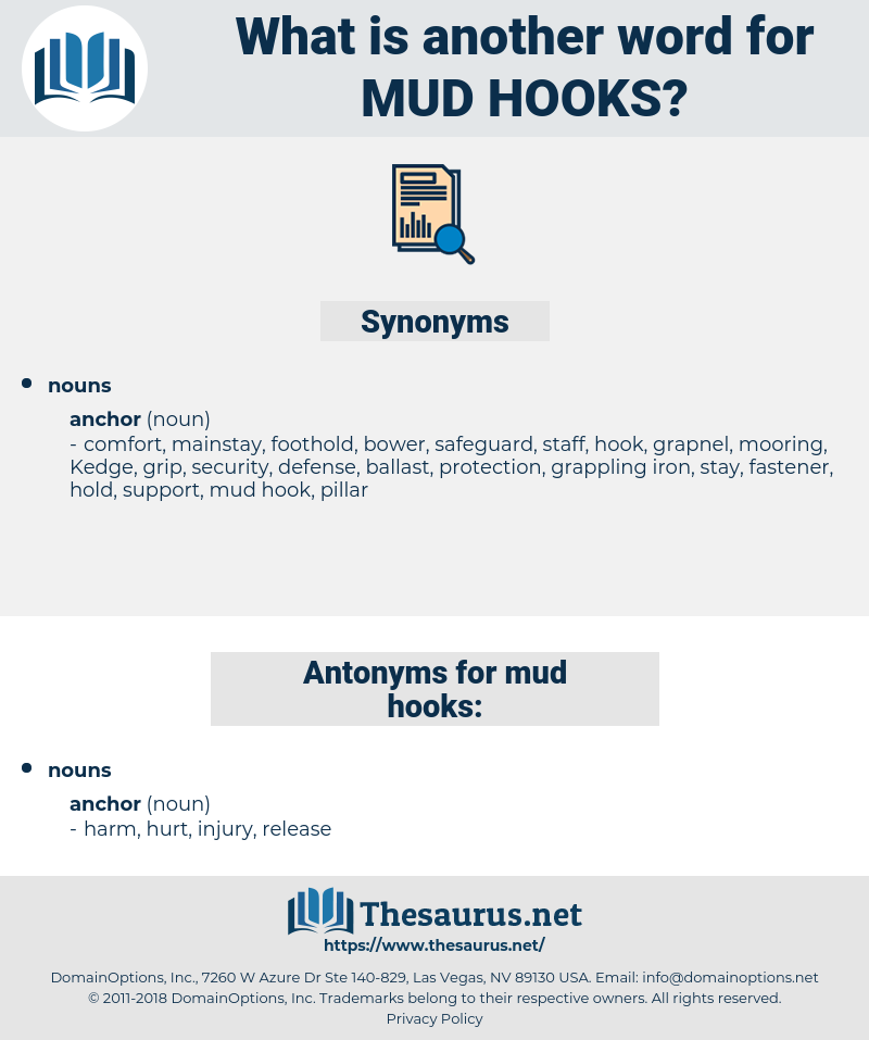 mud hooks, synonym mud hooks, another word for mud hooks, words like mud hooks, thesaurus mud hooks