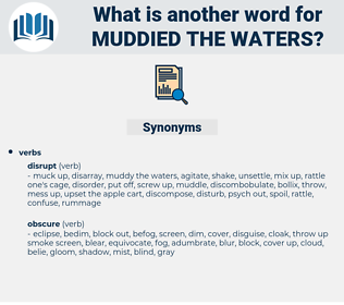 muddied the waters, synonym muddied the waters, another word for muddied the waters, words like muddied the waters, thesaurus muddied the waters