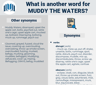 muddy the waters, synonym muddy the waters, another word for muddy the waters, words like muddy the waters, thesaurus muddy the waters