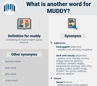 muddy, synonym muddy, another word for muddy, words like muddy, thesaurus muddy