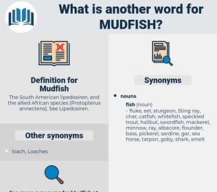 Mudfish, synonym Mudfish, another word for Mudfish, words like Mudfish, thesaurus Mudfish