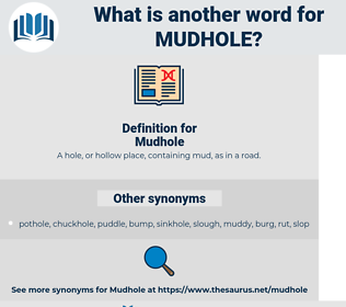Mudhole, synonym Mudhole, another word for Mudhole, words like Mudhole, thesaurus Mudhole