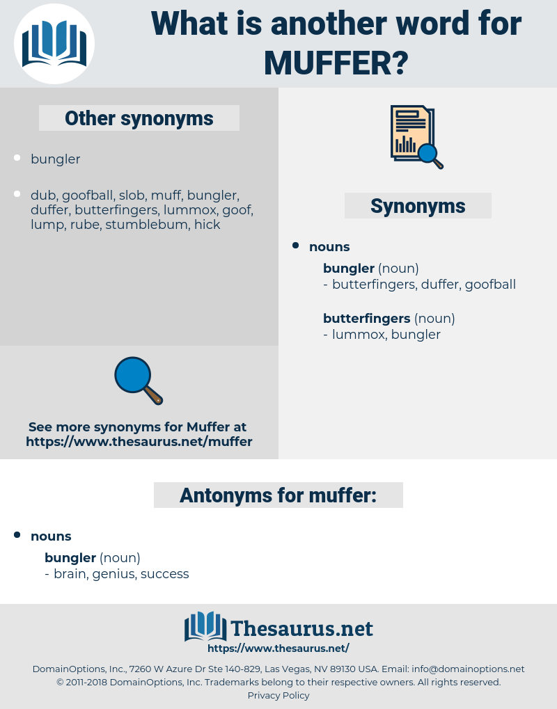 muffer, synonym muffer, another word for muffer, words like muffer, thesaurus muffer