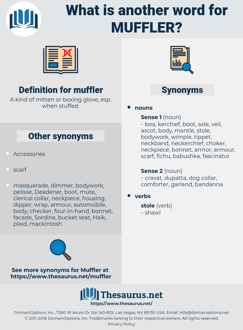 muffler, synonym muffler, another word for muffler, words like muffler, thesaurus muffler