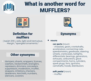 mufflers, synonym mufflers, another word for mufflers, words like mufflers, thesaurus mufflers