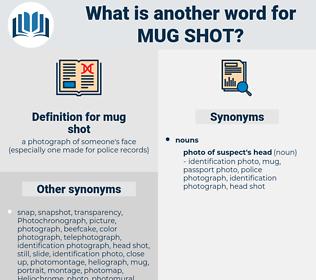mug shot, synonym mug shot, another word for mug shot, words like mug shot, thesaurus mug shot
