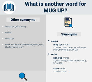mug up, synonym mug up, another word for mug up, words like mug up, thesaurus mug up