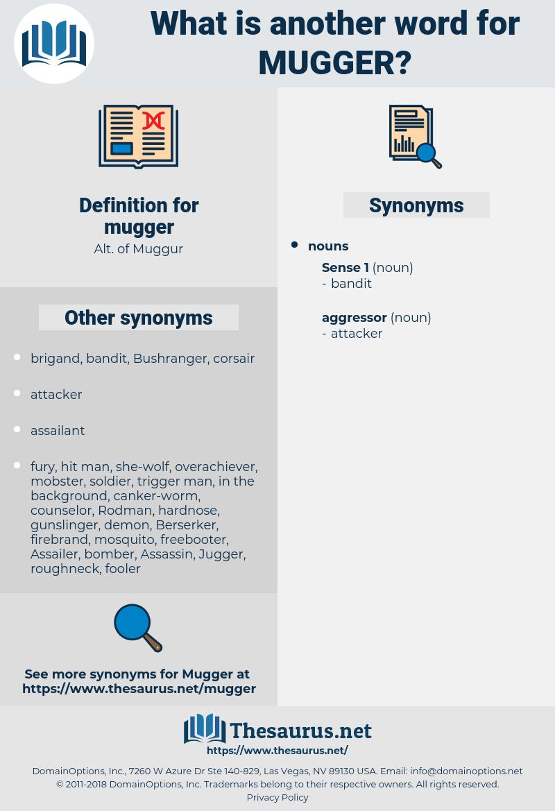 mugger, synonym mugger, another word for mugger, words like mugger, thesaurus mugger