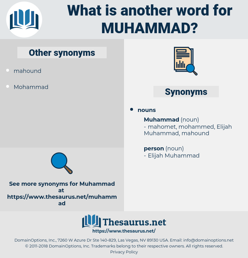muhammad, synonym muhammad, another word for muhammad, words like muhammad, thesaurus muhammad