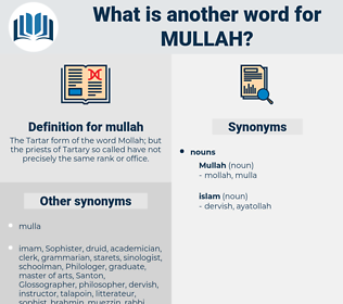 mullah, synonym mullah, another word for mullah, words like mullah, thesaurus mullah