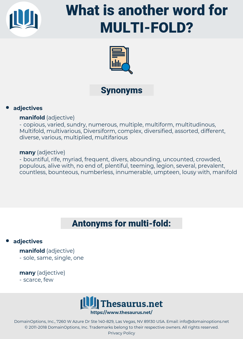 multi fold, synonym multi fold, another word for multi fold, words like multi fold, thesaurus multi fold