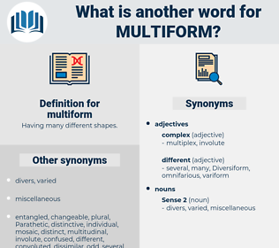 multiform, synonym multiform, another word for multiform, words like multiform, thesaurus multiform
