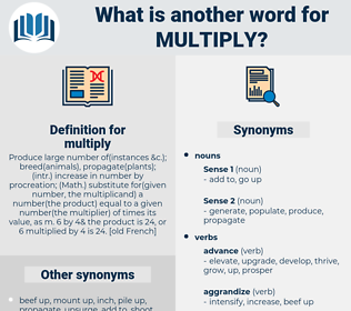 multiply, synonym multiply, another word for multiply, words like multiply, thesaurus multiply