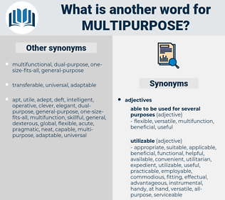 multipurpose, synonym multipurpose, another word for multipurpose, words like multipurpose, thesaurus multipurpose