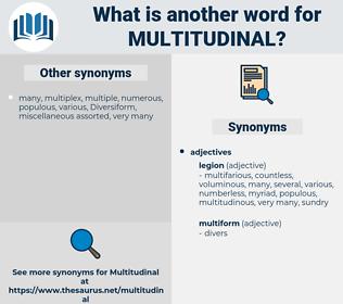 multitudinal, synonym multitudinal, another word for multitudinal, words like multitudinal, thesaurus multitudinal