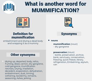 mummification, synonym mummification, another word for mummification, words like mummification, thesaurus mummification