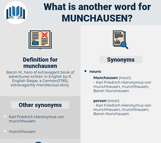 munchausen, synonym munchausen, another word for munchausen, words like munchausen, thesaurus munchausen