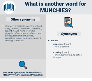 munchies, synonym munchies, another word for munchies, words like munchies, thesaurus munchies