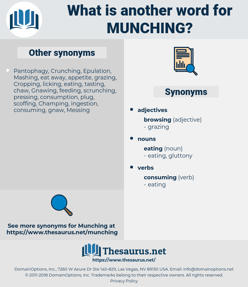 Munching, synonym Munching, another word for Munching, words like Munching, thesaurus Munching